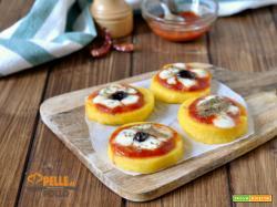 Pizzette di polenta facilissime e sfiziose
