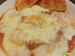 zuppa di cipolle rosse gratinata di treschietto con pecorino toscano