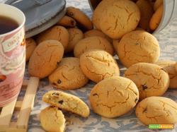 Biscotti arancia e cannella con gocce di cioccolato