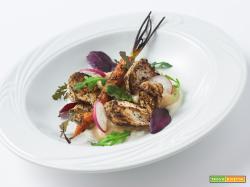 lamiacucinadelsenza verdure arrostite al sumac, yogurt al wasabi e patè di Spagna