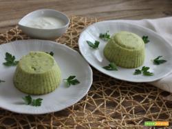 Flan di zucchine e stracchino allo yogurt