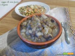Zuppa di orzo farro e legumi