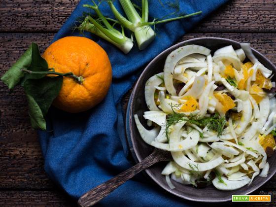 Insalata di  finocchi e arancia con olive taggiasche
