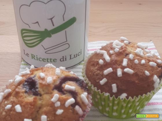 Muffin con yogurt, zucchero di canna e cannella