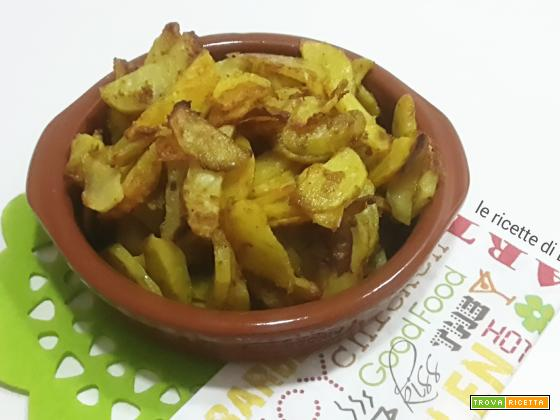 Patate al forno con curry e formaggi
