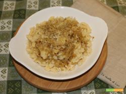 Spatzle binanchi con crauti e formaggio