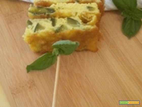 Frittata di zucchine e basilico al forno