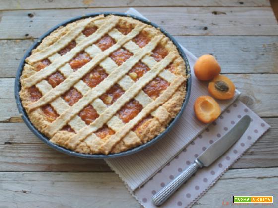Crostata morbida con albicocche fresche e cannella