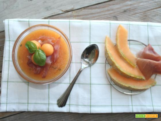 Melone cremoso al cucchiaio