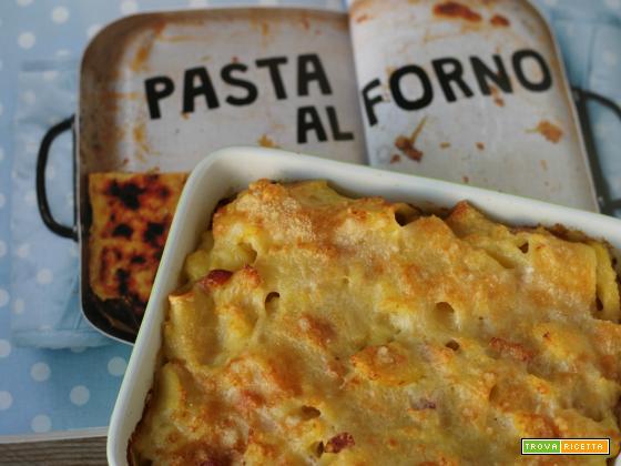 Pasta e patate (con pancetta e provola e cottura in forno)