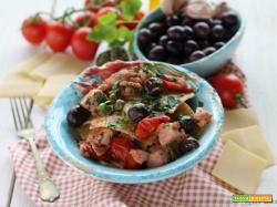 Pettole abruzzesi con tonno, olive e capperi