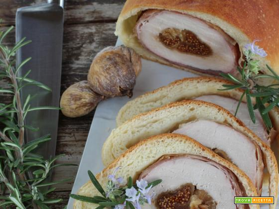Arrosto di Maiale ai Fichi in Crosta di Pane