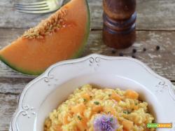 Risotto al melone Cantalupo