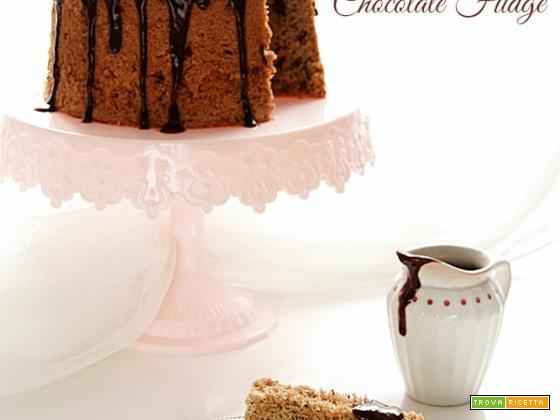 CHIFFON CAKE AL CAFFE' E CIOCCOLATO con Hot fudge sauce