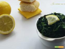 Spinaci al limone – contorno leggero
