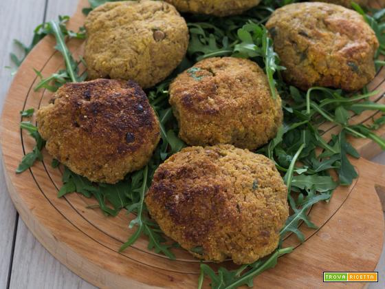 Polpette vegetariane al forno di lenticchie e curry