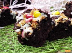 Brownies cioccolato con marshmallow e smarties