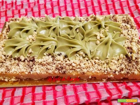 Crostata sablèe al pistacchio e amaretto