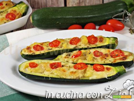Zucchine ripiene di mozzarella