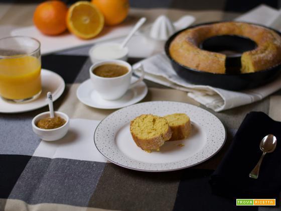 Ciambella all'arancia e kefir