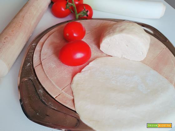 PASTA per torte salate SENZA BURRO, la PASTA MATTA