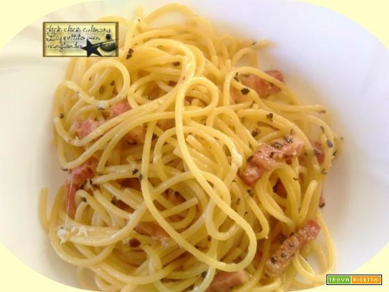 Spaghetti All'Amatriciana in Bianco Oggi cucina Lui