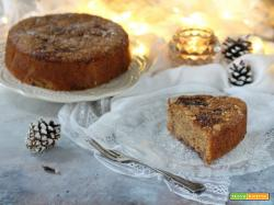 Torta variegata aquafaba prugnole e paprika dolce