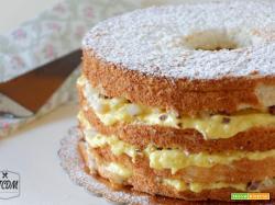Angel cake pere e cioccolato, ricetta dolce facile