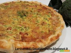 Torta salata con broccolo, ricotta e wurstel