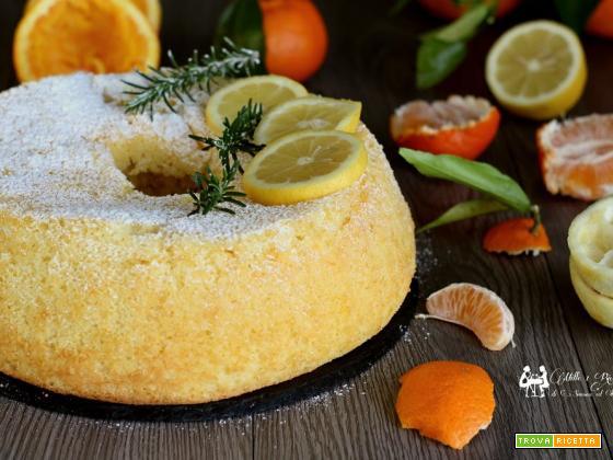 Chiffon cake agli agrumi, fluffosa profumata