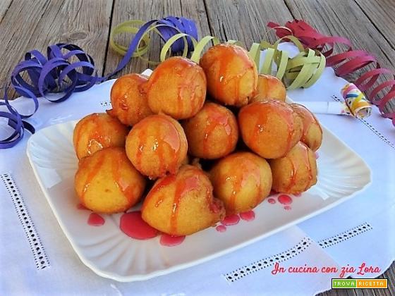 Ricetta delle castagnole umbre all'arancia
