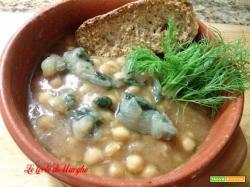 Zuppa di ceci con finocchietto selvatico