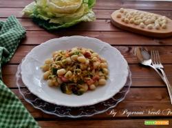 Chicche di patate con cavolo cappuccio e pancetta