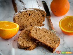 Plumcake castagne e cioccolato con ricotta e arancia