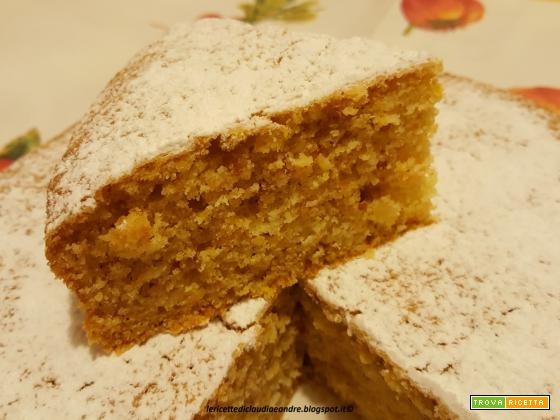 Torta con zucca, amaretti e mandorle, al olio