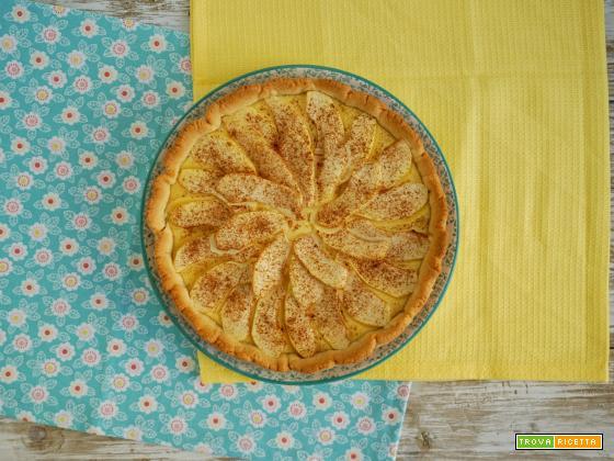 Le Ricette di Chri: Crostata con crema e mele