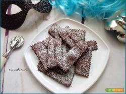 Chiacchiere di Carnevale Light al Cacao e Cotte al Forno
