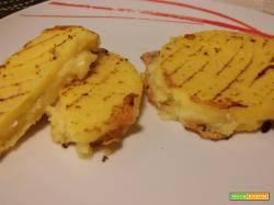 Medaglioni di polenta al gorgonzola
