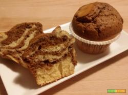 Muffin zebrati alla vaniglia, caffè e nutella