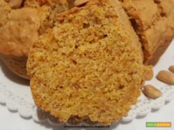 Ciambella con burro di arachidi e zucca cruda