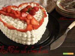 Red Velvet cake a forma di cuore