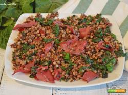 Quinoa, semi di chia, riso rosso e bresaola