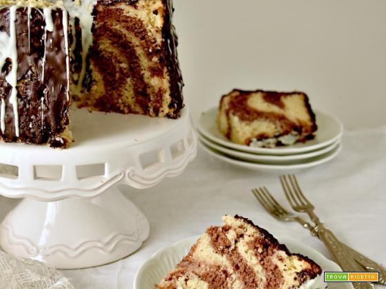 Chiffon Cake marmorizzata, ricetta semplice e veloce