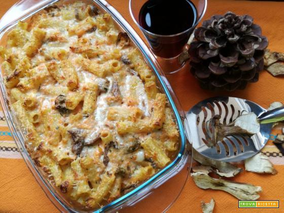 Pasta al forno zucca e porcini