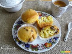 Muffin soffici con uvetta