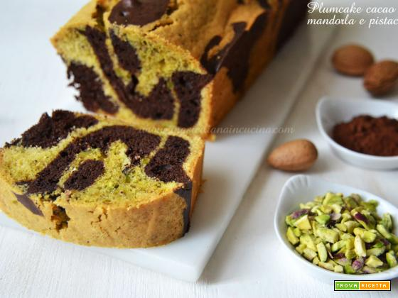 Plumcake mandorla cacao pistacchio