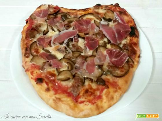Pizza a cuore gustosa – idea cena romantica