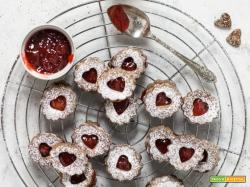 Biscotti di San Valentino ricetta linzer cookies
