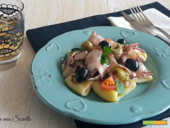 Paccheri al polipo e olive