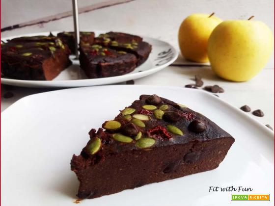 Torta Brownie Semplice al Cioccolato 4 Ingredienti Naturali